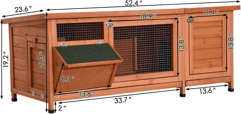 Amazon.com: Lovupet - Conejo de madera para interior y ...