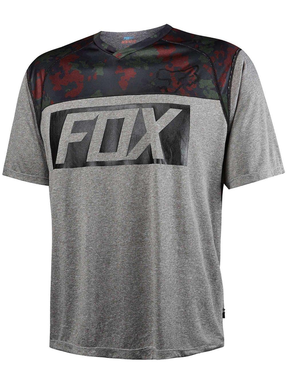Fox Kurzarm-Jersey Indicator Prints Grau Gr. M