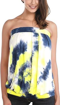 DJT-Mujeres Top Camiseta Hombros Descubiertos