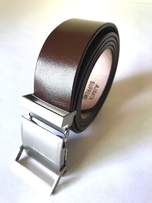Adjustable Mens Genuine Leather Dress Belts Premium Quality