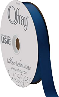 "product image for Berwick Offray 7/8"" Wide Double Face Satin Ribbon, Light Navy Blue, 100 Yards"