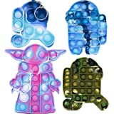 AIPILER Push Pop Bubble Fidget, Bubble Sensory Fidget Toy Stress Relief Silicone Pressure Relieving Toys for Kids and Adults,