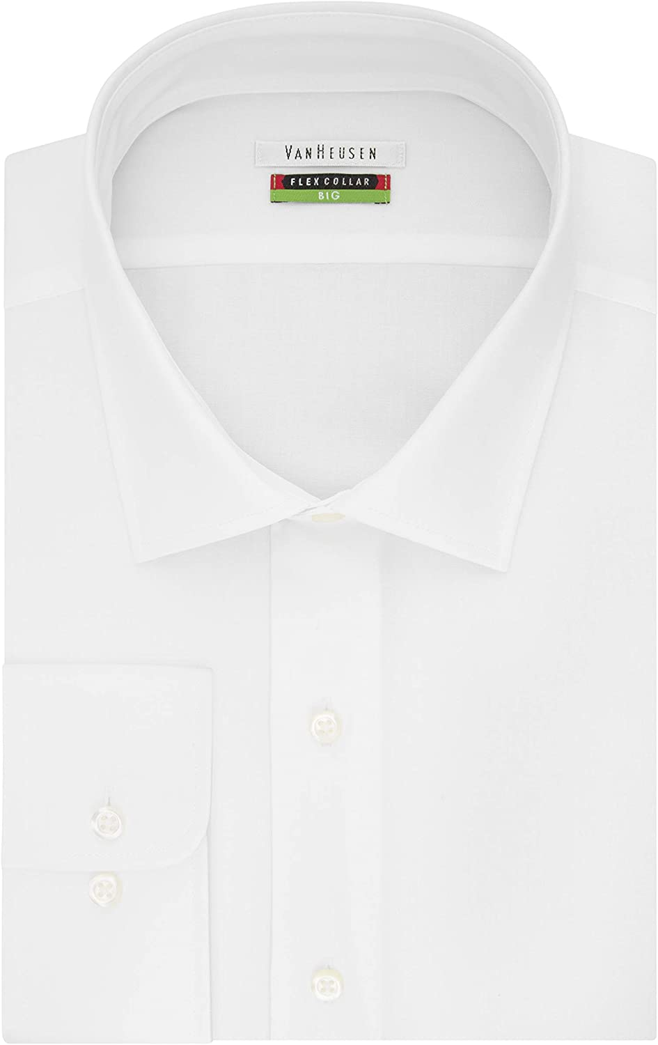 Van Heusen Men's BIG FIT Dress Shirts Flex Collar Solid (Big and Tall): Clothing