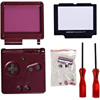 Timorn Full Parts Housing Shell Pack Replacement for GBA SP Gameboy Advance SP (Purple Pack)