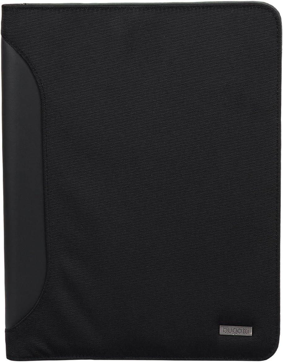 Black 26 cm Bugatti Writing Case Ufficio with Front Pocket Bag Organiser