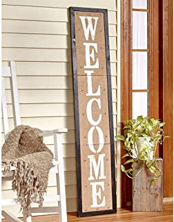 The Lakeside Collection 5 Ft. Country Welcome Sign Black & Amazon.com : Carson Door Hanger Stand : Garden \u0026 Outdoor