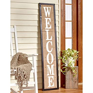 The Lakeside Collection 5 Ft. Country Welcome Sign Black