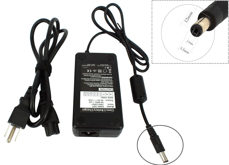 Amazon.com: 42 V 1,35 Amp Scooter eléctrico cargador de ...