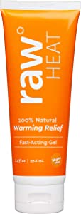 raw Heat Pain Relief Gel, 3.3oz Tube, All Natural Warming Pain Reliever Gel for Muscle Pain, Joint Pain, Neck Pain, Back Pain, and Body Aches