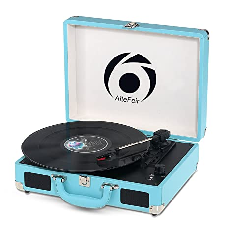 Portable Stereo Turntable with Built in Speakers, montaje RCA ...