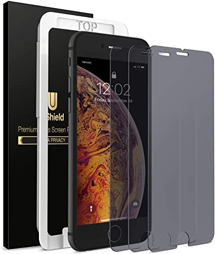 Amazon Com Ushield Privacy Screen Protector For Iphone 8 Plus Iphone 7 Plus 3 Pack W Installation Frame Tempered Glass Screen Protector Compatible With Iphone 8 Plus 7 Plus 3 Pack Fit With Most Cases