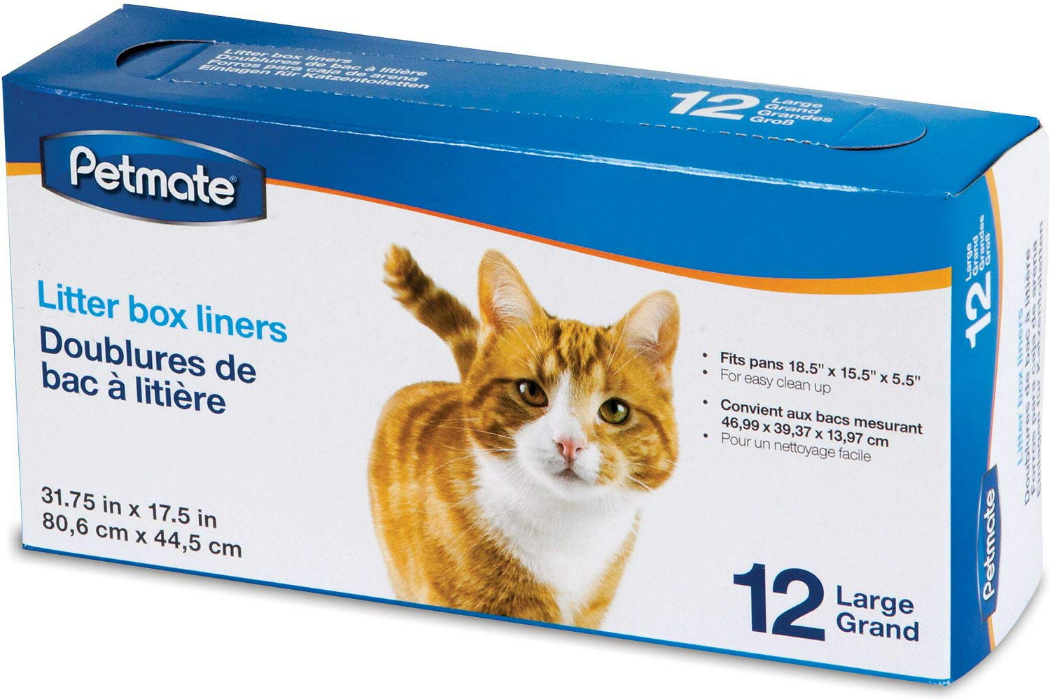 Petmate Litter Pan Liners, Large, 12 Count, 12 Pack by Petmate