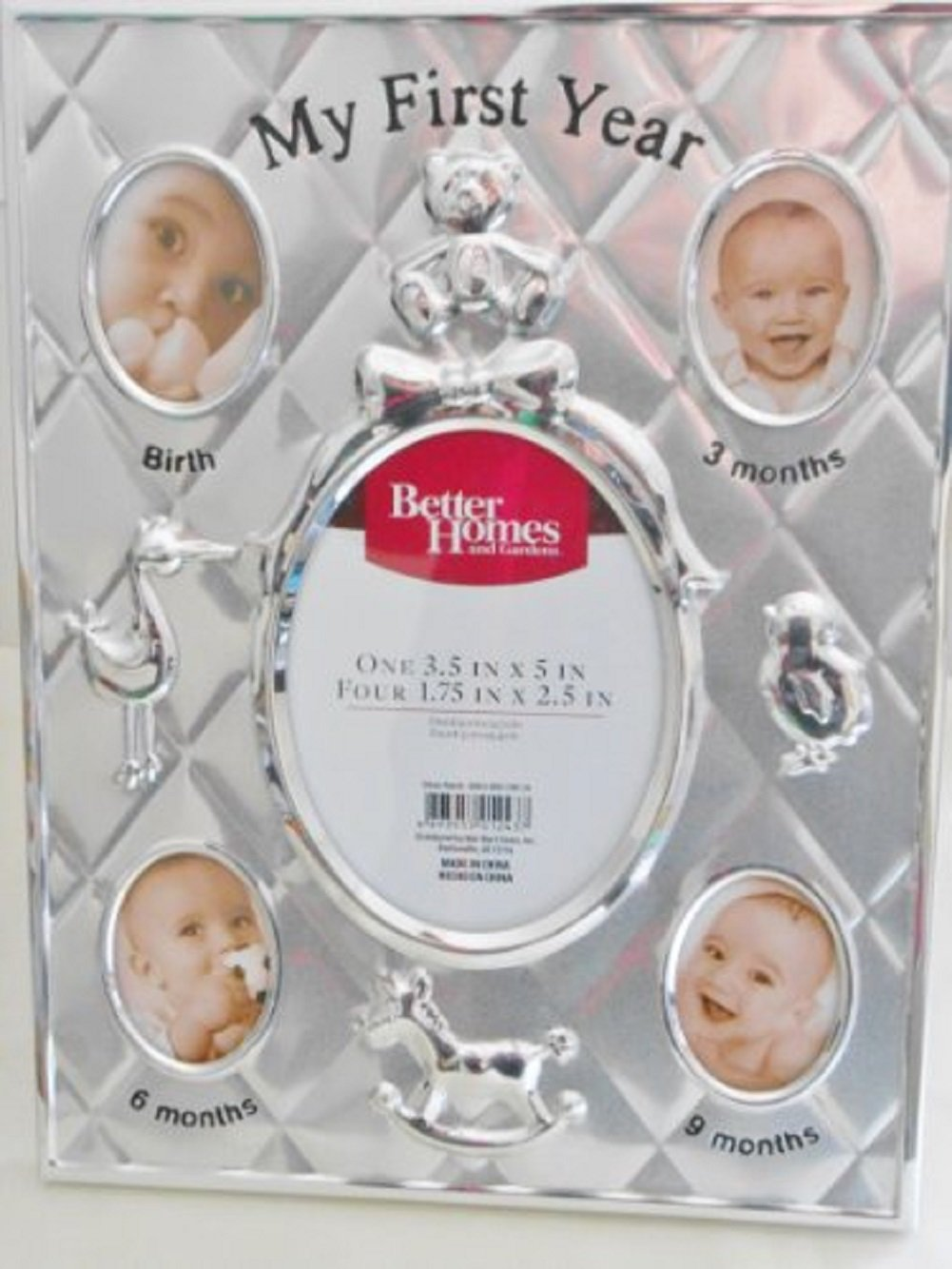 Better Homes & Gardens Silver Finish Baby's My First Year Picture Frame BH13-095-199-14