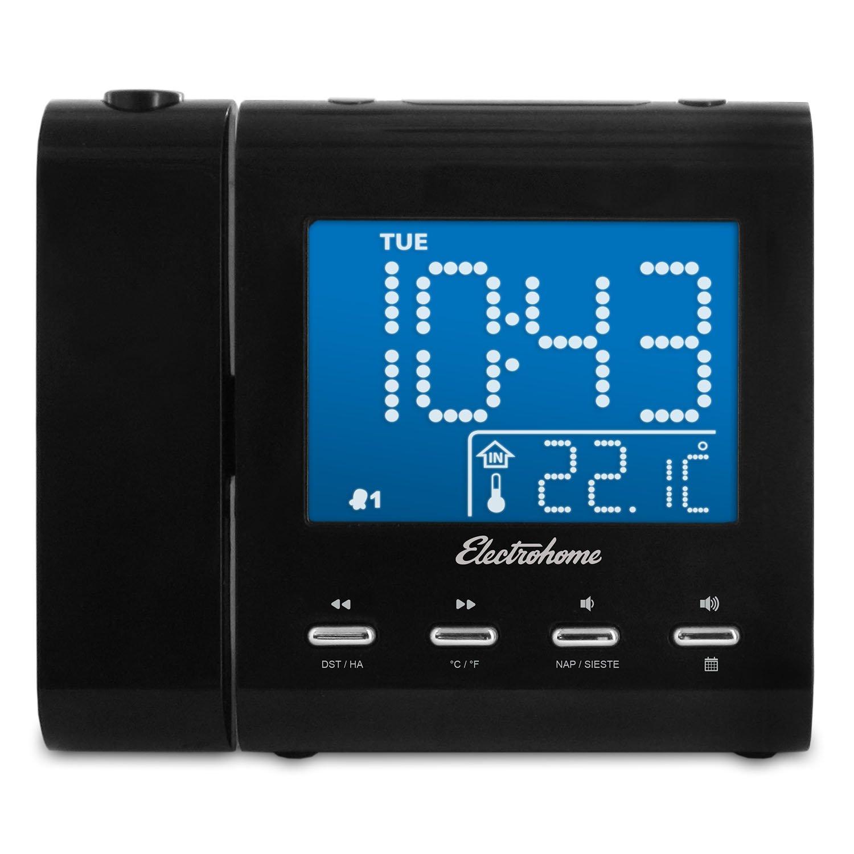 Amazon.com: Electrohome Projection Alarm Clock with AM/FM Radio ...