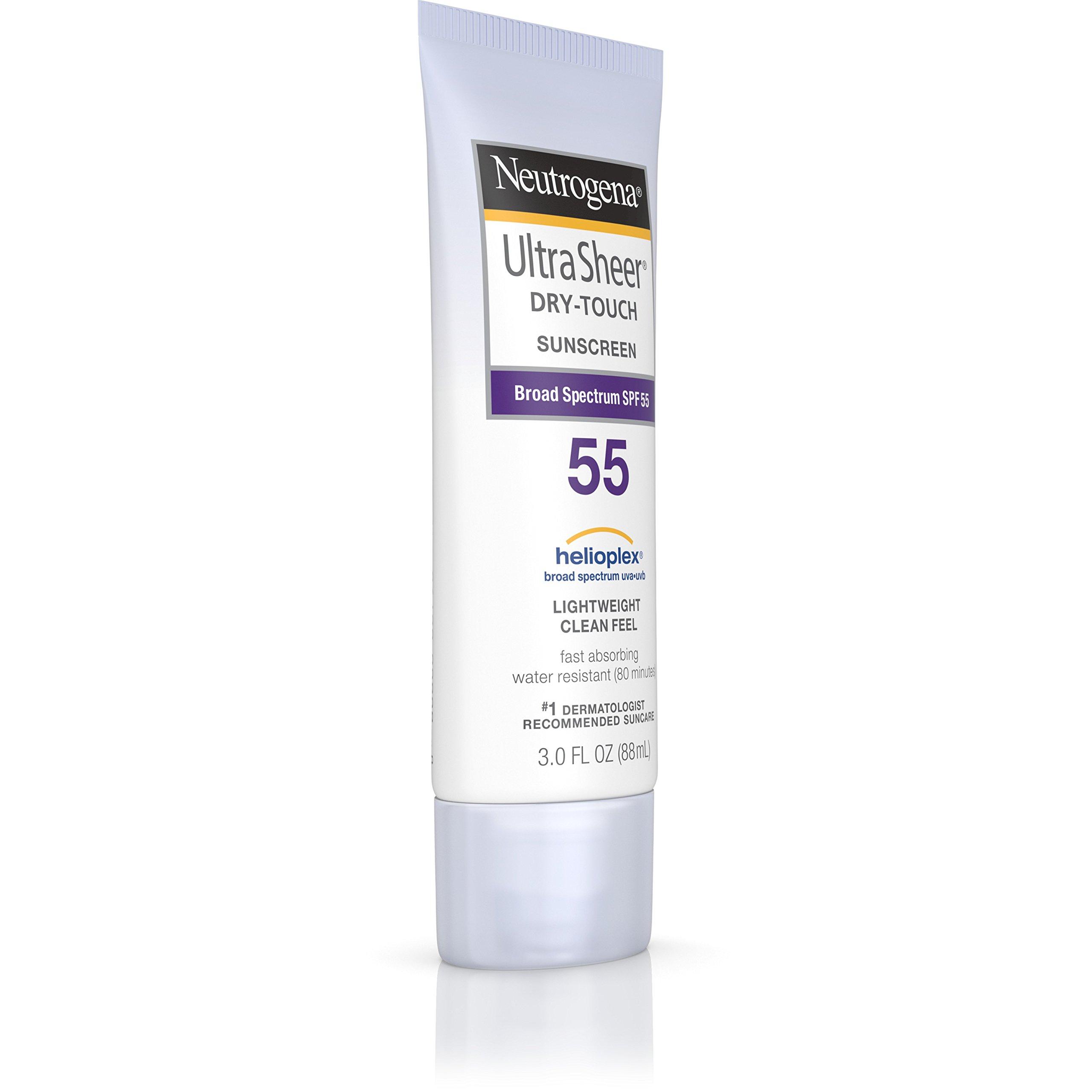Neutrogena Ultra Sheer Dry-Touch Sunscreen Broad Spectrum SPF 55, 3 fl. oz.