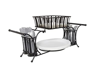 Amazon.com: JMiles UH-BC264 Buffet Caddy for Plates, Utensils ...