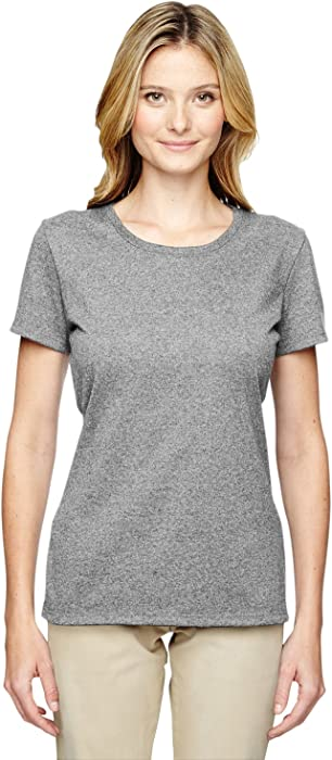 795f53b9bf5 Amazon.com  Jerzees Heavyweight Blend Ladies  Tee (Athletic Heather ...