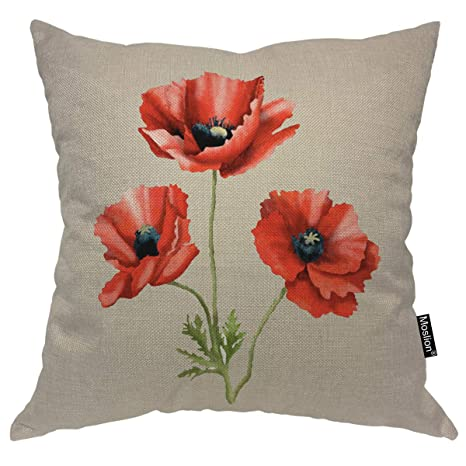 Amazon.com: Moslion funda de almohada de cachemira textil ...