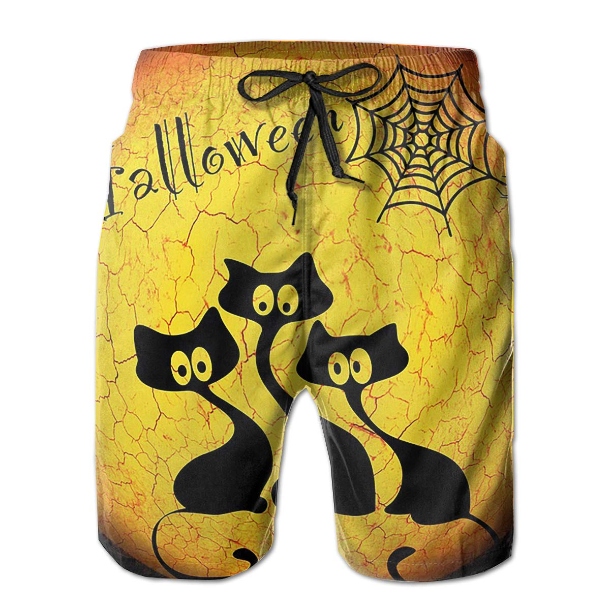 Wexzss Happy Halloween Funny Summer Quick-Drying Swim Trunks Beach Shorts Cargo Shorts
