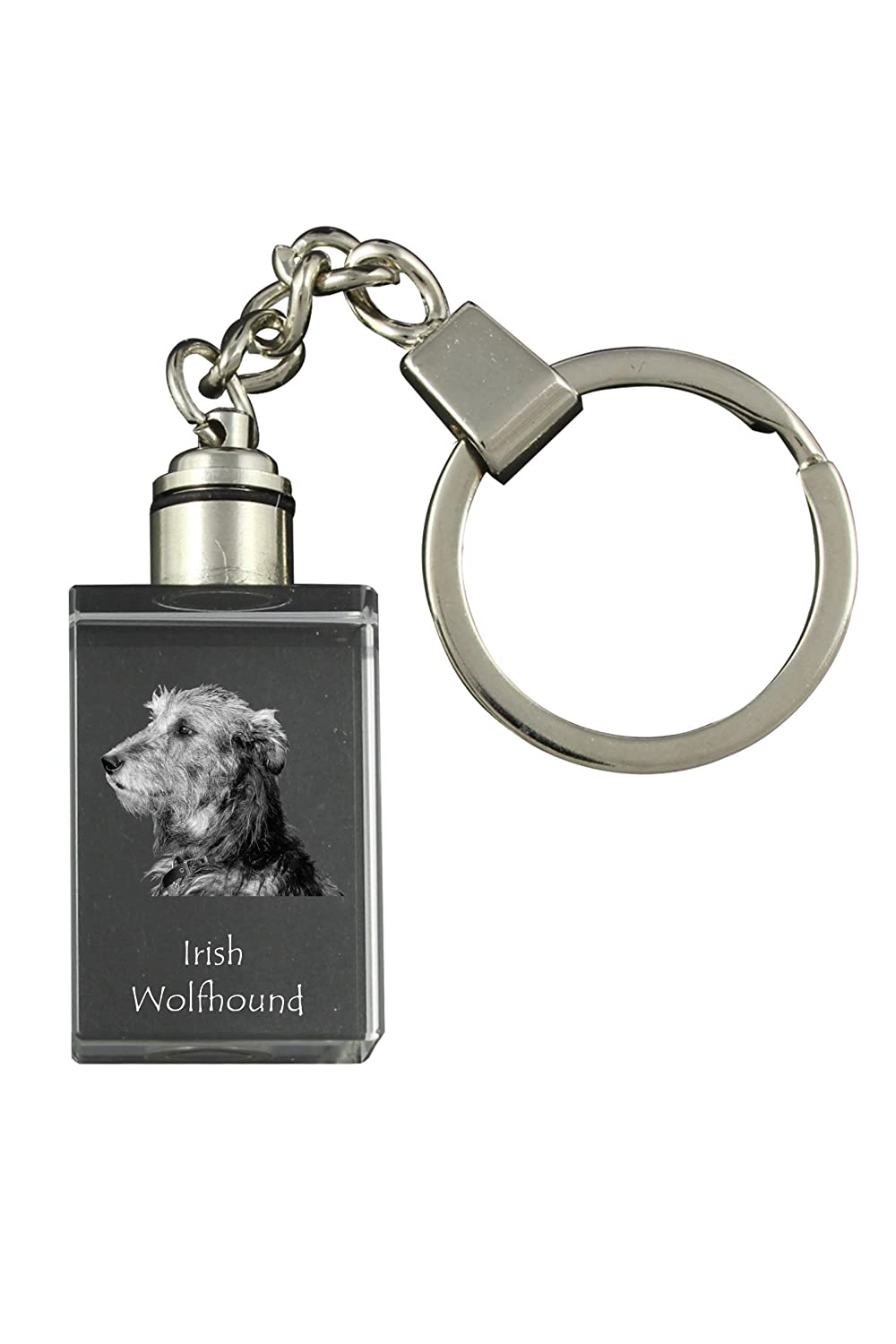 a Keyring with a Dog Irish Wolfhound
