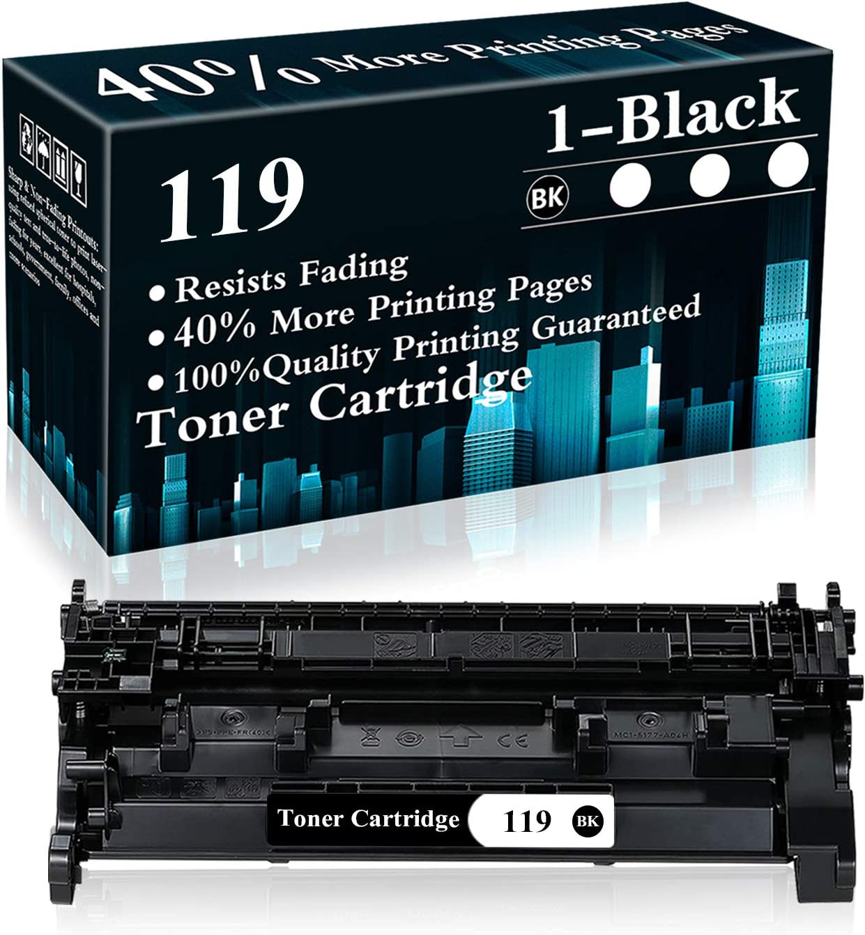 1 Black 119 | CRG-119 Toner Cartridge Replacement for Canon imageCLASS MF5850dn MF5950dw MF6180dw MF416dw MF419dw MF418x LBP6340 LBP6670dn LBP6680x LBP251dw LBP252dw LBP253dw Printer,Sold by TopInk