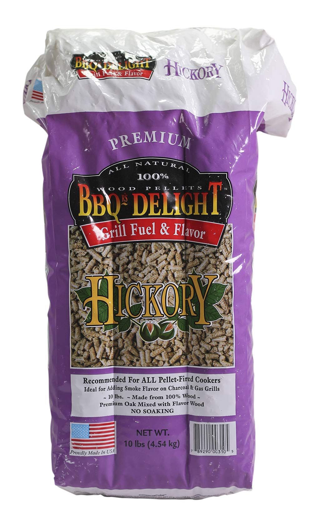 BBQR's Delight Hickory Wood Smoker Pellets 10 Pound Bag -All Types of Smokers or Grills