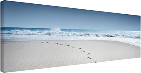 Bilderwelten Cuadro en Lienzo - Traces In The Sand - Panorama Apaisado, Cuadros Cuadro Lienzo Cuadro sobre Lienzo Cuadro Moderno Cuadro Decoracion Cuadros Decorativos Cuadro XXL, Tamaño: 40 x 120cm