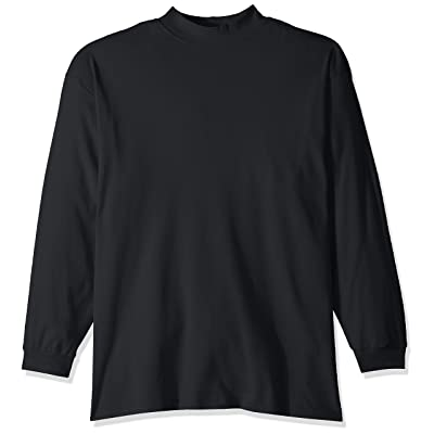 AquaGuard Men's Egyptian Interlock Long-Sleeve Mock Turtleneck, Black, 3X-Large at Amazon Men's Clothing store