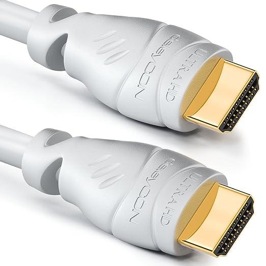 20 opinioni per Cavo HDMI deleyCON da 2m- compatibile con HDMI 2.0a/b/1.4a- UHD / 4K / HDR / 3D