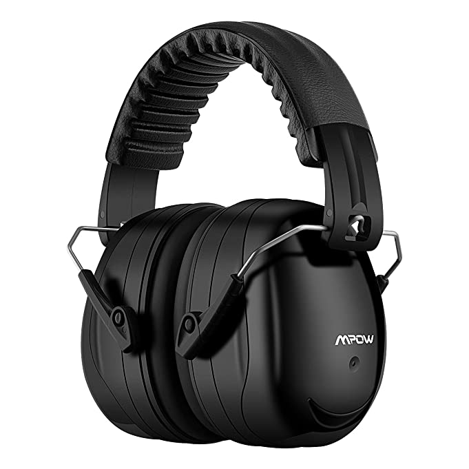Mpow Noise Reduction Safety Ear Muffs, Shooters Hearing Protection Ear Muffs, Adjustable Shooting Ear Muffs, NRR 28dB Professional Ear Defenders for Shooting Hunting, with a Carrying Bag