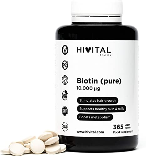 Biotina 10.000 mcg (Vitamina B7) | 365 comprimidos (Suministro ...