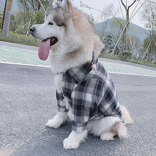 FORMEG Ropa De Perro Mascotas Ropa Camisa A Cuadros para Perros Ropa Mediana para Perros Grandes Ropa para Mascotas De Moda para Perros Grandes Disfraz Golden Retriever Pug Camisas para Mascotas: Amazon.es:
