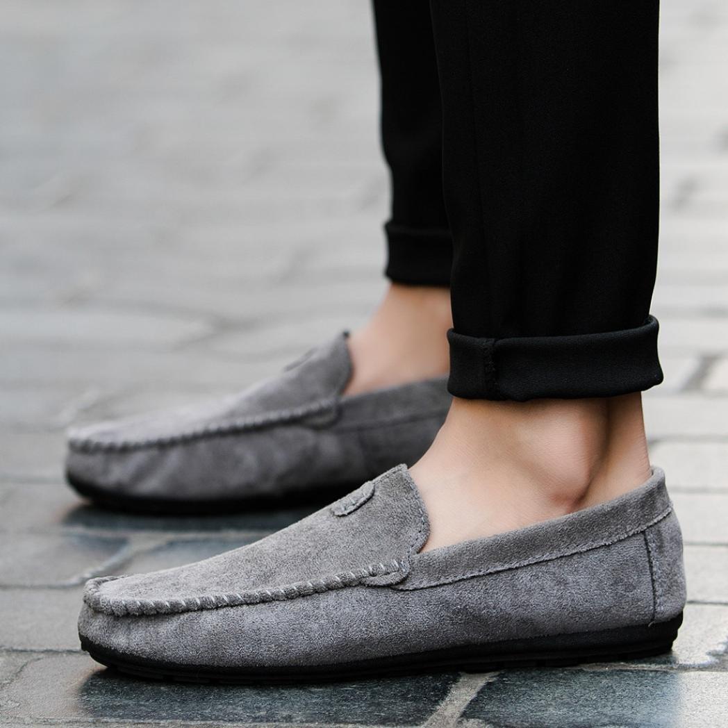 Zapatos Hombre,Estilo de verano joven Cool Men s casual y cómodo conducción zapatos sólidos de frijol LMMVP (Gris, 43(EU)): Amazon.es: Iluminación