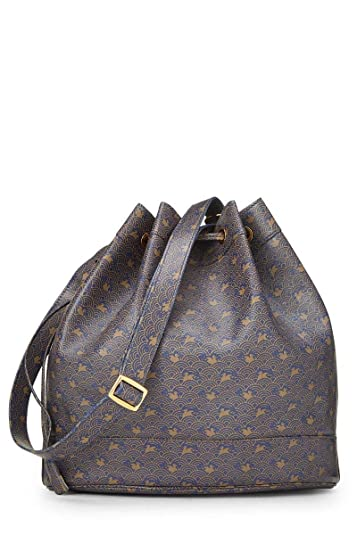 Hermes Navy Calfskin Market Bucket Bag (Pre-Owned)  Handbags  Amazon.com 4293f4b63095