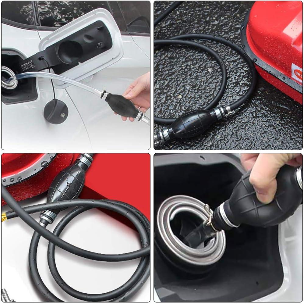 Boat Kart Vehicle 2 Pieces Fuel Primer Bulb Rubber Fuel Pump Line Hand Primer Bulb for Fuels Automotive Garden Gobesty Fuel Line Pump 8mm