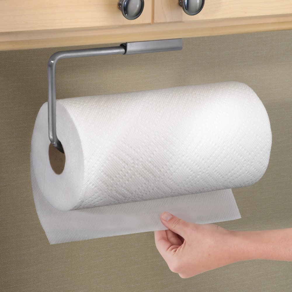 Amazon.com - InterDesign Forma Swivel Paper Towel Holder for Kitchen - Wall  Mount/Under Cabinet, Brushed Stainless Steel - Toilet Paper Holders