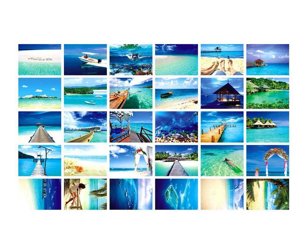 Paesaggio di viaggio del mondo bella 30 cartoline artistiche retr/ò PC Maldive