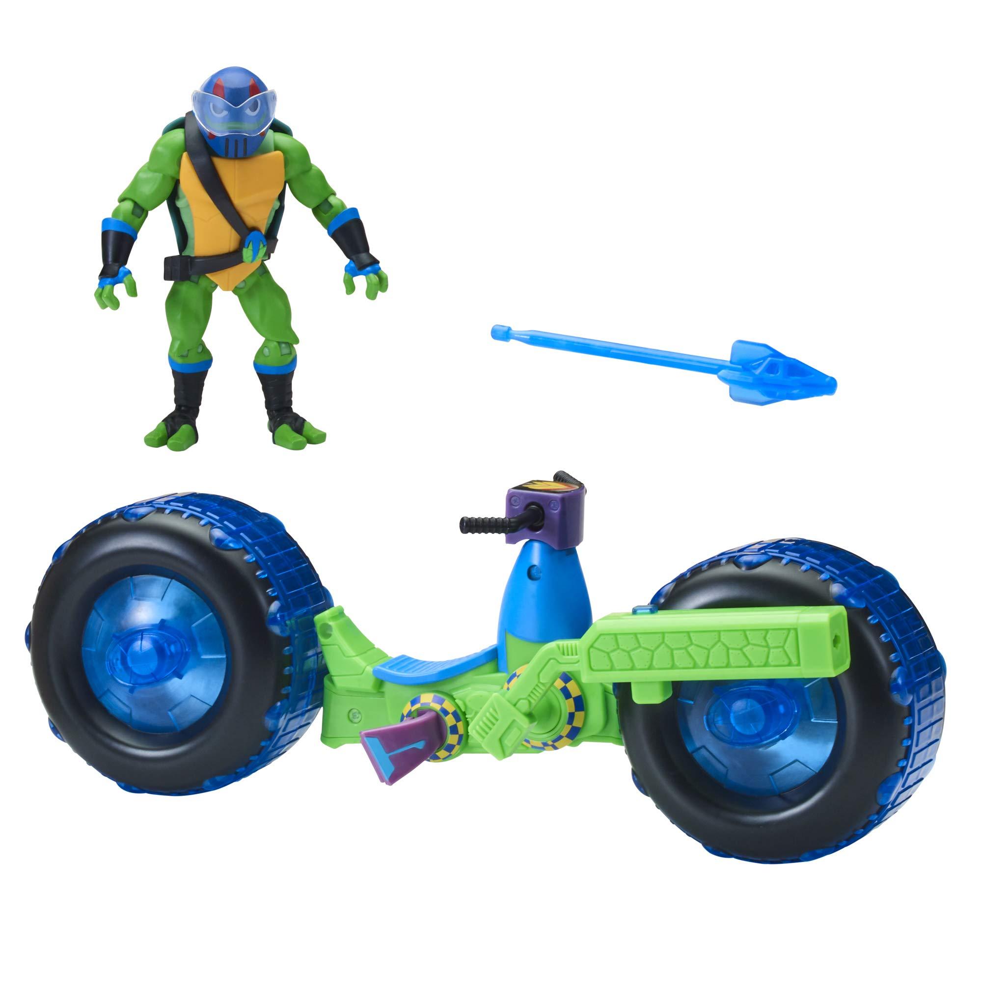 Rise of Teenage Mutant Ninja Turtles Shell Hog véhicule avec Michelangelo