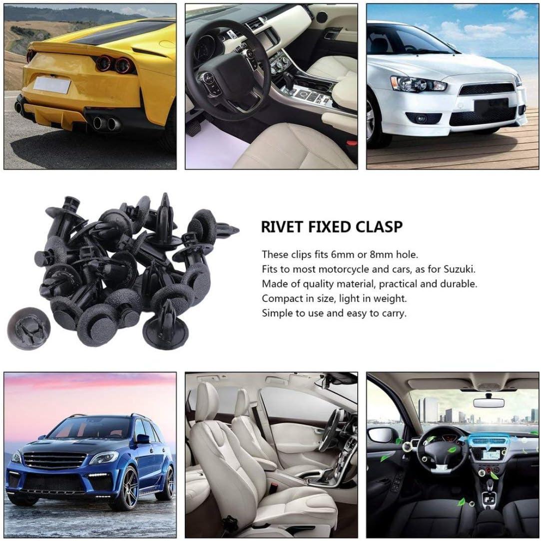vbncvbfghfgh 20pcs Auto-Motorrad-Verkleidungs-Clips Nieten gepasst f/ür 6mm 8mm Loch Fastener Verkleidungs-Schwarz New Dropping Versand