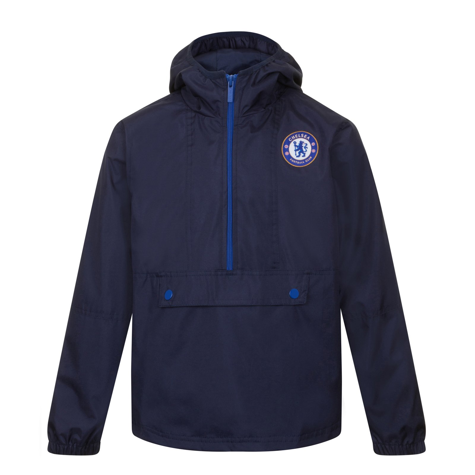 Chelsea FC Official Gift Boys Half Zip Shower Jacket Windbreaker 6-7 Years by Chelsea F.C.