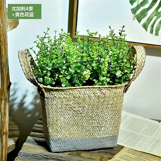 Beata. T flores artificiales arreglo floral flores cama algas para ...