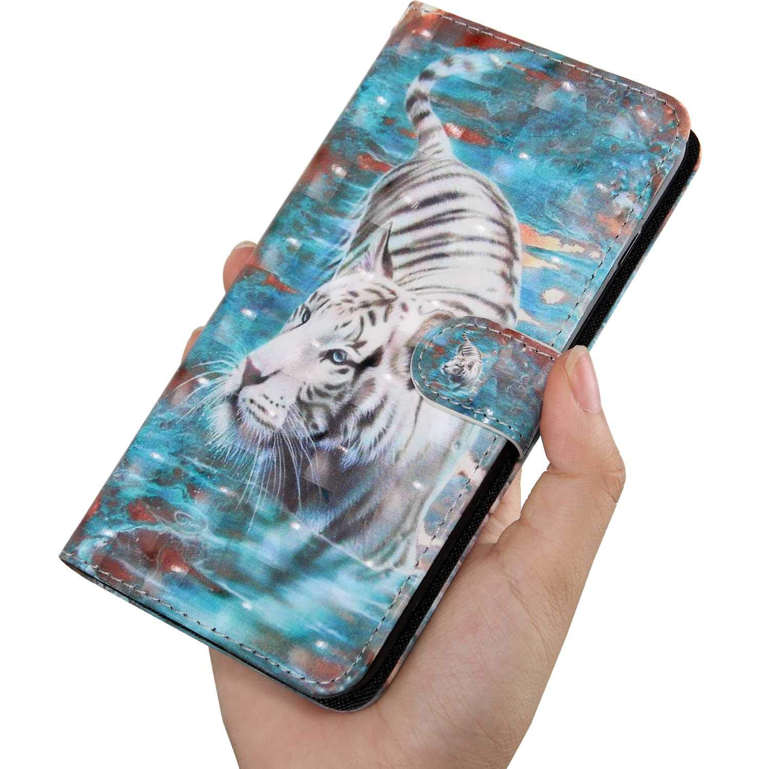 3D Pattern Design Wallet Flip Case for Samsung Galaxy S10+ // Plus #10 Panda Bear Village/® Galaxy S10+ // Plus Case PU Leather Book Style Cover with Free Tempered Glass Screen Protector