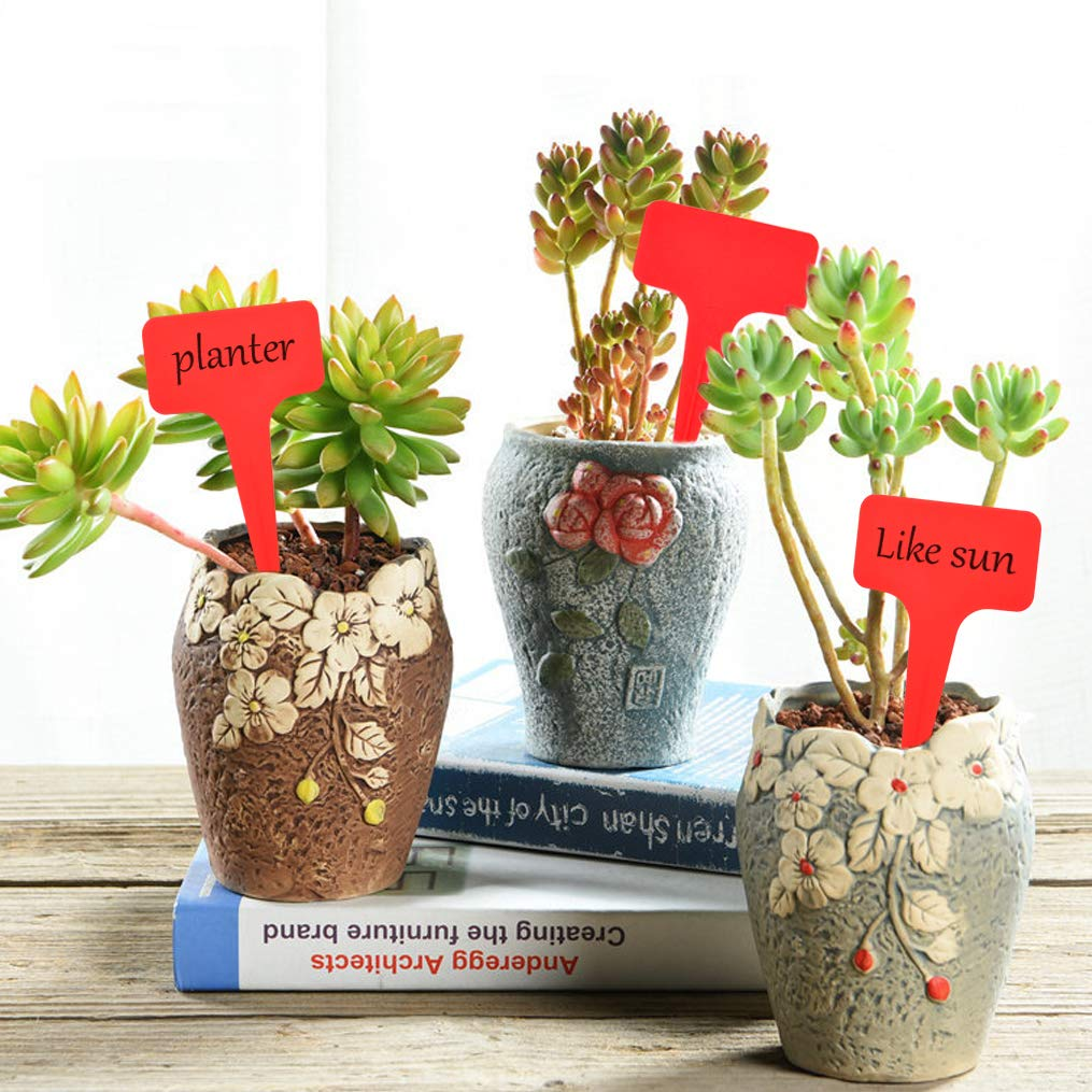 Garden Plant Pot  Plastic Stake Tags Home Yard Lawn Nursery  Labels HS