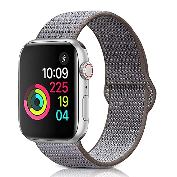 timeless design 4ba66 58c12 Sport Loop Band Compatible With Apple Watch Band 38MM/40MM Or 42MM/44MM  Nylon Soft Breathable Nylon I Watch Replacement Band Sport Loop for Apple  ...
