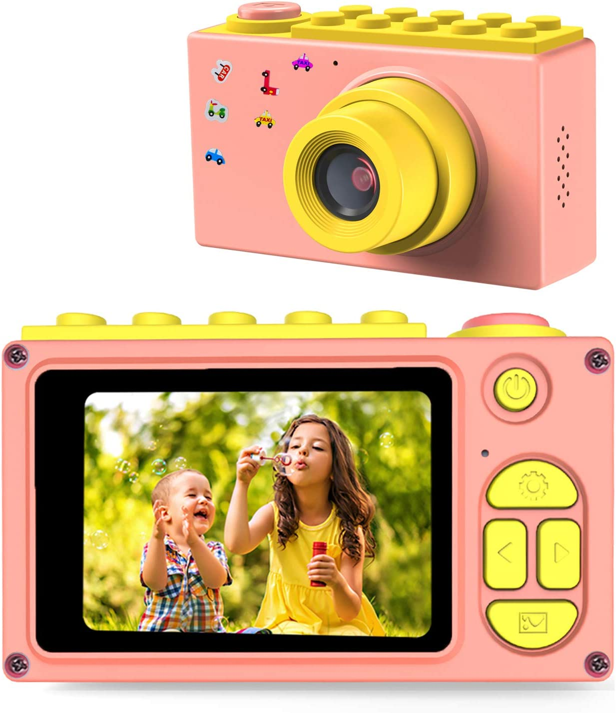 Amazon Com Bluefire Kids Digital Camera Mini 2 Inch Screen Children S Camera 8mp Hd Child Camcorder Best Digital Camera For Boys And Girls Pink Camera Photo
