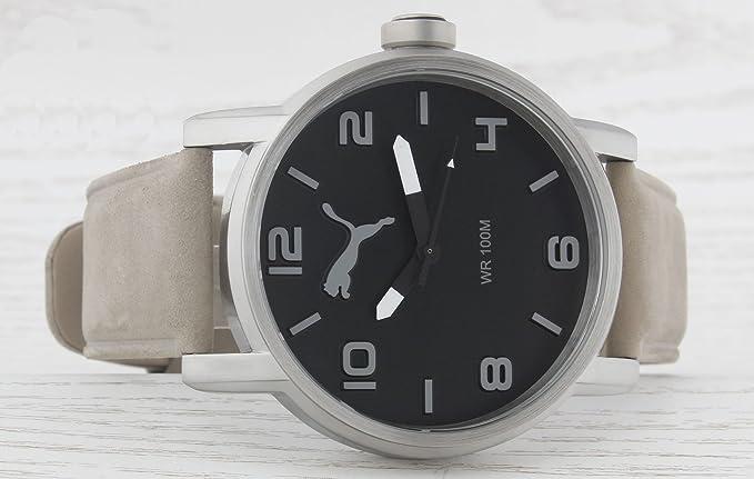 Amazon.com: PUMA Time ALTERNATIVE ROUND PU104141005 Mens Wristwatch Solid Case: Watches