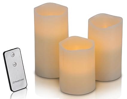 3 Led Kerzen Mit Fernbedienung 4 Teiliges Set Stimmungsvolle