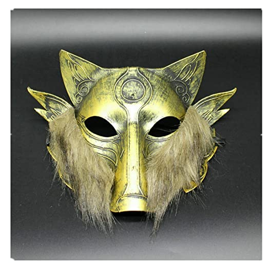 amazoncom primerry halloween party cosplay festival performance props halloween supplies bar dance animal band gross wolf masks golden clothing