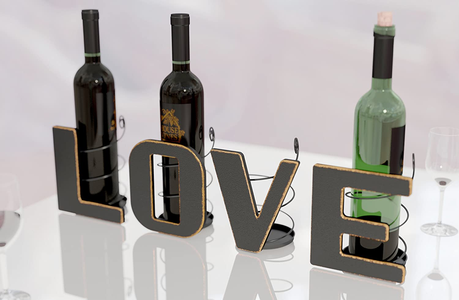 Amazoncom LOVE Letter Wine Bottle Holder Art