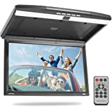 15.6-Inch Overhead Flip-Down Car Monitor - Hi-Res 1680x800p Widescreen Car Roof Mount Monitor, Vehicle Flip Down Overhead Scr